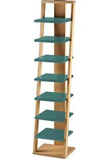 Estante Prateleira Suspensa Stairway Maxima Palha/Azul Claro