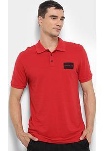 Camisa Polo Calvin Klein Masculina - Masculino-Vermelho