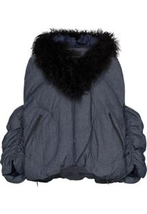 Angel Chen Faux Fur-Collared Jacket - Azul