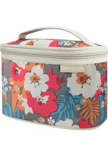Necessaire Frasqueira Estampada Tam. P Jacki Design Miss Douce Bege Floral - Tricae