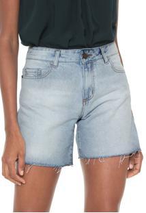 Bermuda Jeans Cantão Reta Basic Azul