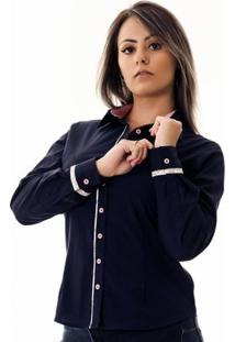 Camisa Pimenta Rosada Da Pietra - Feminino-Azul+Rosa