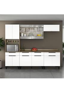 Cozinha Compacta Itamaxi Iii 11 Pt 3 Gv Branca E Castanho