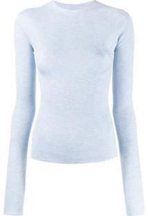 Lanvin Ribbed Slim Fit Top - Azul
