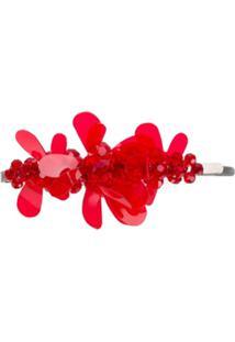 Simone Rocha Presilha Com Acabamento Floral - Vermelho