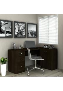 Mesa Para Escritório Tecno Mobili Me4100 Tabaco
