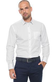Camisa Vr Reta Estampada Branca