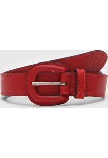 Cinto Calvin Klein Vermelho - Vermelho - Feminino - Dafiti