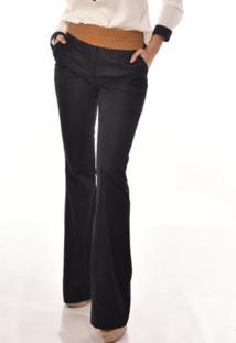 Calça Jeans Banca Fashion Casual Azul Marinho