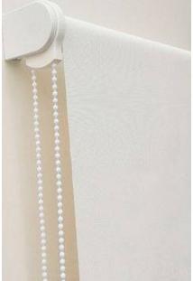 Cortina Rolô Para Banheiro (Lxa) 0,90X1,00, Cor Branca