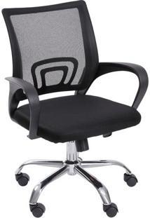 Cadeira Office Tok- Preta & Prateada- 95X59,5X49Cm