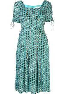 Dvf Diane Von Furstenberg Floral Print Dress - Azul