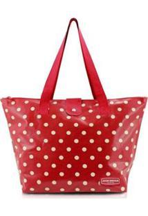Bolsa Jacki Design Flanelado - Feminino-Vermelho
