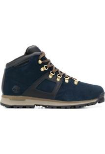 Timberland Ankle Boot Com Cadarço - Azul