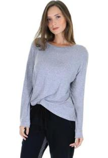Blusa Decote V Malha Lisa G Feminina - Feminino