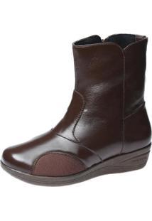 Bota Doctor Shoes 210 Pespontos Marrom