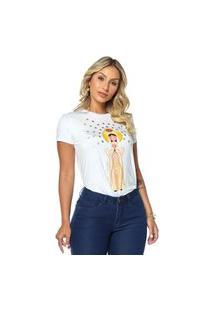 T-Shirt Daniela Cristina Gola U 07 602Dc10312 Branco