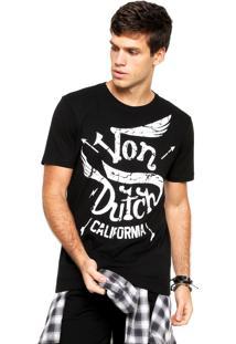 Camiseta Von Dutch Estampada Preta