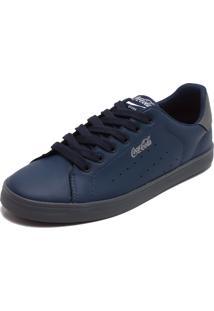 Tênis Coca Cola Shoes Recortes Azul-Marinho