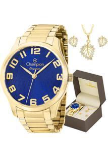 7707e82a502 E Clock. Relógio Tamanho Grande Kit Dobrável Analógico Com Colar Feminino  Magnum Champion ...