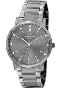 Relógio Champion Feminino Elegance - Feminino-Cinza
