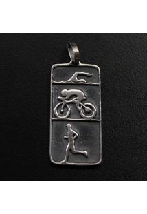 Pingente De Triatlhon Triathlon Natação Ciclismo Corrida - 95886 Magia Das Jóias