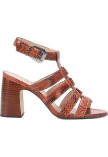 Sandália Couro Shoestock Salomé Salto Bloco Feminina - Feminino