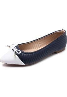 Sapatilha Modare Bicolor Matelassê Azul/Branco