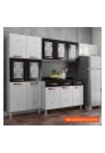 Cozinha Compacta Mirage New Ii 11 Pt Branca E Preta
