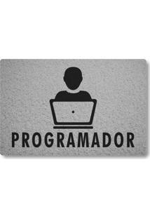 Tapete Capacho Programador - Prata