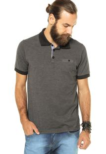 Camisa Polo M. Officer Listras Cinza
