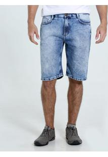 Bermuda Masculina Jeans Marmorizada Marisa