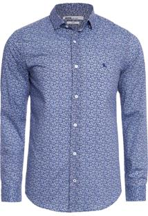 Camisa Masculina Slim Liberty - Azul