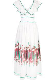 Le Sirenuse Vestido Com Estampa - Branco