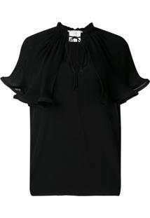 Stella Mccartney Blusa Com Sobreposição - Preto