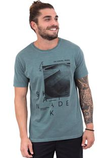 Camiseta Limits Laundry Skate Pool Verde