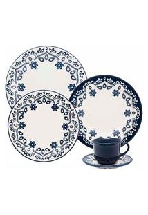 Aparelho De Jantar E Chá 30 Peças Floreal Energy Azul