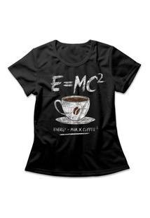 Camiseta Feminina Coffee Energy Formula Preto