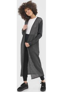Maxi Cardigan My Favorite Thing(S) Lurex Preto - Kanui