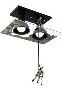 Plafon Tropa 80W - Startec - Preto