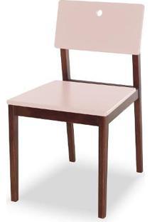 Cadeira Flip Cor Cacau Com Bege Claro