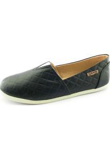 Alpargata Quality Shoes Feminina 001 Matelassê Preto 34