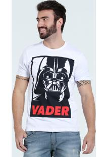 Camiseta Masculina Star Wars Manga Curta Disney