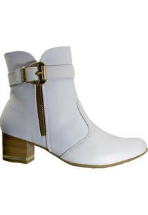 Bota Feminina Comfortflex 1799302 - Feminino-Branco