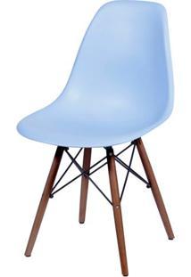 Cadeira Eames Polipropileno Azul Claro Base Escura - 44837 - Sun House