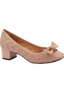 Sapato Com Laço- Rosa Claro- Salto: 4Cmvia Uno