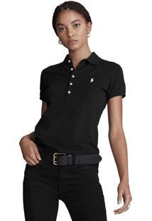 Camisa Polo Polo Ralph Lauren Slim Preta