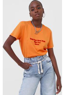 Camiseta Colcci Wmn Pwr Laranja