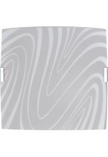 Plafon Quadrado Grande Curvas Branco