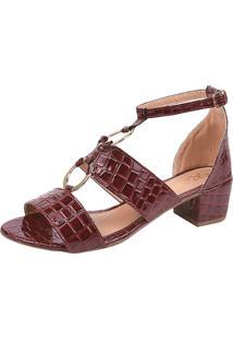 Sandália Rosa Chic Calçados Duquesa Vinho